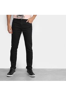 Calça Jeans Skinny Coca-Cola Super Escura Cintura Média Masculina - Masculino