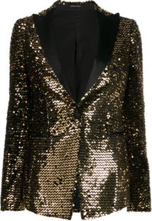 Tagliatore Single Breasted Embellished Blazer - Dourado