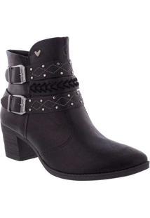 Ankle Boots Mississipi Salto Grosso Com Fivela Pre