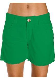 Bermuda Sarja Color Colcci - Feminino-Verde