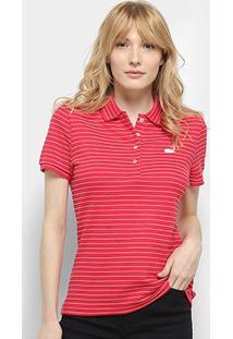Camisa Polo Lacoste Polo Mc Feminina - Feminino-Vermelho
