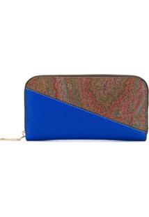 Etro Carteira Bicolor - Azul