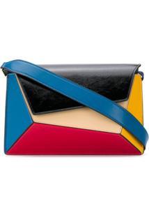 Mlouye Bolsa Tiracolo Color Block Geométrica - Azul