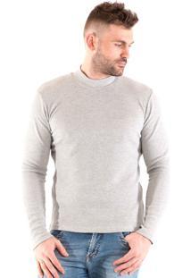 Camiseta Konciny Básica Gola Alta Cacharrel Cinza