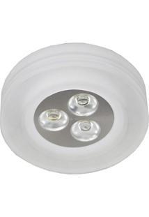 Spot Embutir Redondo 3W Caixa Com 5 Unidades 3500K Luz Amarela Bella Iluminação Bivolt