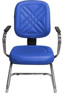 Cadeira Pethiflex Pd-04Scbc Couro Azul
