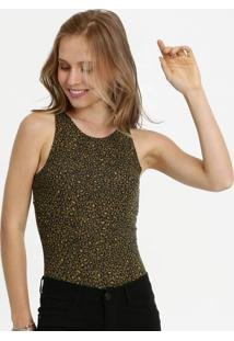 Body Feminino Estampa Animal Print Sem Manga Marisa