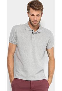 Camisa Polo Gangster Piquet Elastano Masculina - Masculino-Cinza