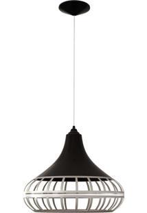 Luminária Pendente Combine Preta E Prata Spirit Bivolt 1440