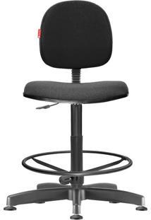 Cadeira Caixa Alta Executiva Giratória Crepe Preto