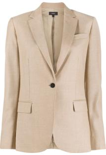 Theory Single Breasted Blazer - Neutro