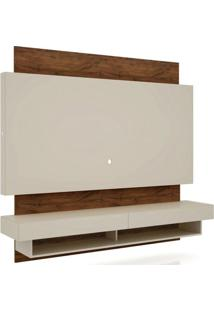 Rack Com Painel Suspenso Bulgaria Com Led 1,80 Mt Cor Off White Com Nobre - 39825 - Sun House