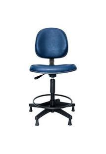 Cadeira Caixa Prolabore. Linha Spin. Sintético. Anatômica. Giratória. Mecanismo V/H. Alta Com Aro Ajustável. Sapatas.