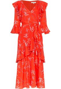 Borgo De Nor Vestido Estampado - Vermelho
