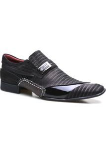 Sapato Social Masculino Luxuoso Calvest - Masculino-Preto