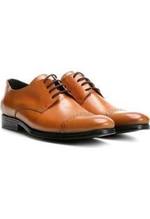 Sapato Social Couro Walkabout Sforzesco Masculino - Masculino-Caramelo