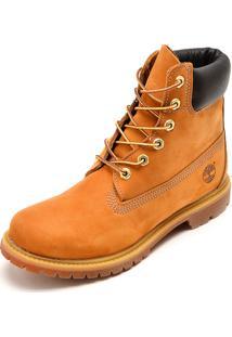 Bota Couro Timberland Yellow Boot W 6In Premium Boot Wp Caramelo