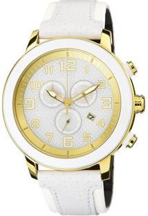 Relógio Analógico Tz30133B- Branco & Dourado- Citizecitizen