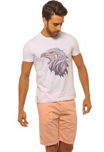 Camiseta Masculina Joss Premium New Aguia Étnica Branca