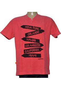 Camiseta Masc Dopping [015268590 Vermelho