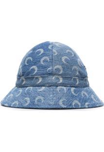 Marine Serre Chapéu Azul Com Estampa De Lua