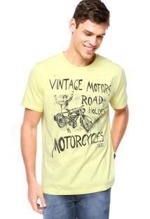Camiseta Manga Curta Colcci Slim Amarela