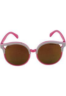 Óculos De Sol Khatto Super Star Feminino - Feminino-Branco
