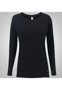 Camiseta Manga Longa Under Armour Favorite - Feminina - Preto