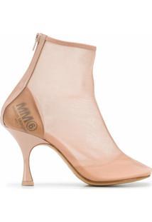 Mm6 Maison Margiela Ankle Boot Com Mesh - Neutro
