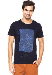 Camiseta Aramis Regular Fit Estampada Azul-Marinho