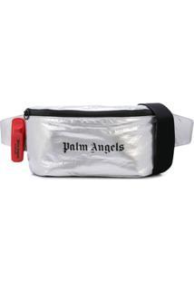 Palm Angels Pochete Com Estampa De Logo - Prateado