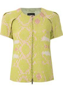 Emporio Armani Blusa Estampada Efeito Matelassê - Verde