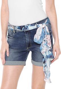Bermuda Jeans Slim Lança Perfume High Azul