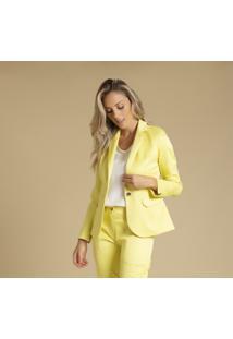 Blazer Alongado Amarelo