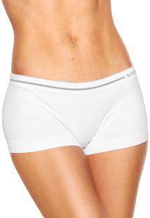 Calcinha Lupo Boxer Sem Costura Branca