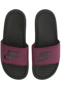Chinelo Feminino Preto Rosa Centauro Nike Praia Slide Jdi Benassi Escpreto