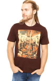 Camiseta Manga Curta Cavalera Assalto Marrom