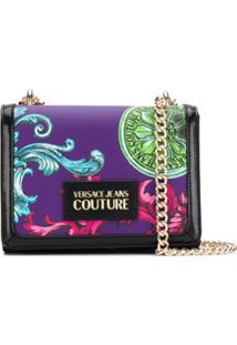 Versace Jeans Couture Bolsa Tiracolo Com Estampa - Preto