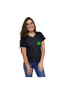 Camiseta Feminina Cellos Vertical Signature Premium Preto