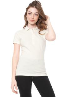 Camisa Polo Colcci Reta Logo Off-White