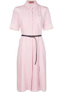 Altuzarra Vestido De Poá Com Cinto - Rosa
