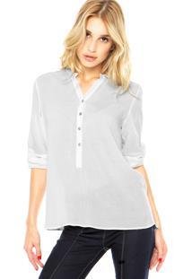 Camisa Dafiti Ontrend Básica Lisa Off-White