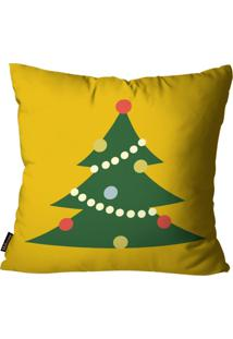 Capa Para Almofada Mdecore Natal Arvore De Natal Amarela 45X45Cm