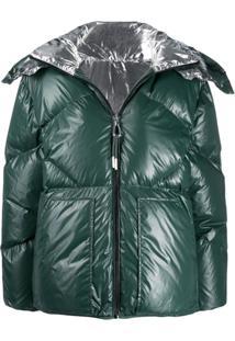 Sandro Paris Reversible Puffer Jacket - Verde
