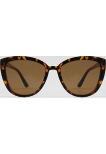 Óculos De Sol Gatinho Feminino Yessica Tartaruga