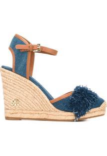 Tory Burch Sandália Jeans - Azul
