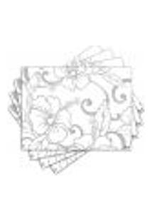 Jogo Americano - Flores Com 4 Peças - 585Jo