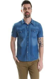 Camisa Levis Classic Wetern - Masculino-Azul