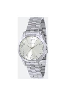 Kit Relógio Feminino Lince Lrmh124L-Kx39S2Sx Analógico 5Atm + Conjunto Semijóia   Lince   Prata   U