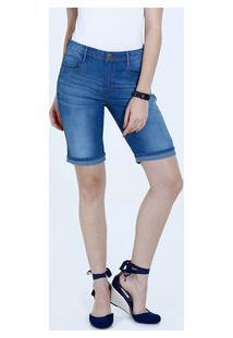 Bermuda Feminina Jeans Barra Dobrada Marisa